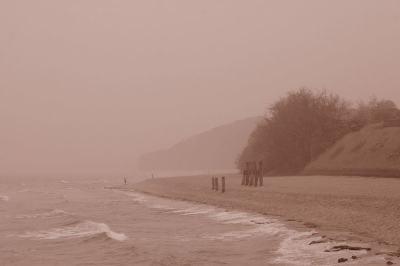 Foggy Day Beach Foggy Landscape Nature Stunning Shots