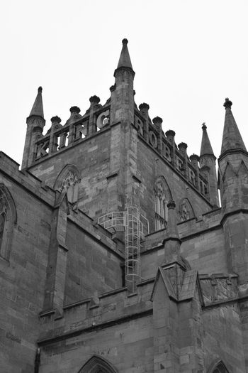 Dunfermline Abbey Tower Architecture Blackandwhite Building Exterior Built Structure Dunfermline Dunfermline Abbey Fife  History Low Angle View Nikon Nikon D3300 Scotland Tower