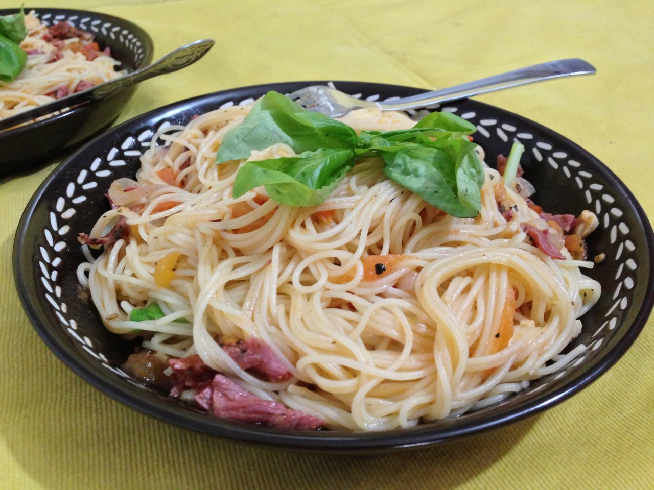 food and drink, noodles, food, indoors, bowl, freshness, healthy eating, no people, table, chopsticks, ready-to-eat, close-up, day