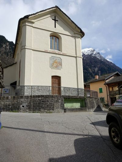 Switzerland Swiss Alps Swiss Mountains Ticino Valle Di Blenio Dangio Torre Church Craft Ornate Place Of Worship Religion Religious Art Spirituality Architecture Building Historical Building Tranquil Scene Old Buildings Old Town Sky And Clouds