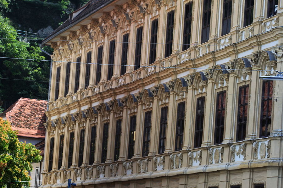 Architecture Austria Building Exterior Built Structure City Day Graz No People Outdoors Palace Roof Steiermark Summer 2016 Trees Windows