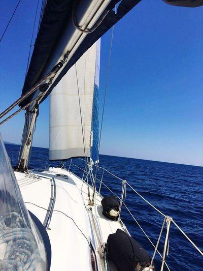 Sea Water Sailing Ship Sky Boats⛵️ Sailing Emotiional OneDay.