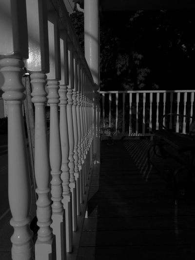 Shape Blackandwhite Monochrome Light And Shadow Close-up Mypointofview Lines Lines And Shapes Architectural Column Railing Architecture Built Structure Picket Fence Fence Balcony Wooden Balustrade