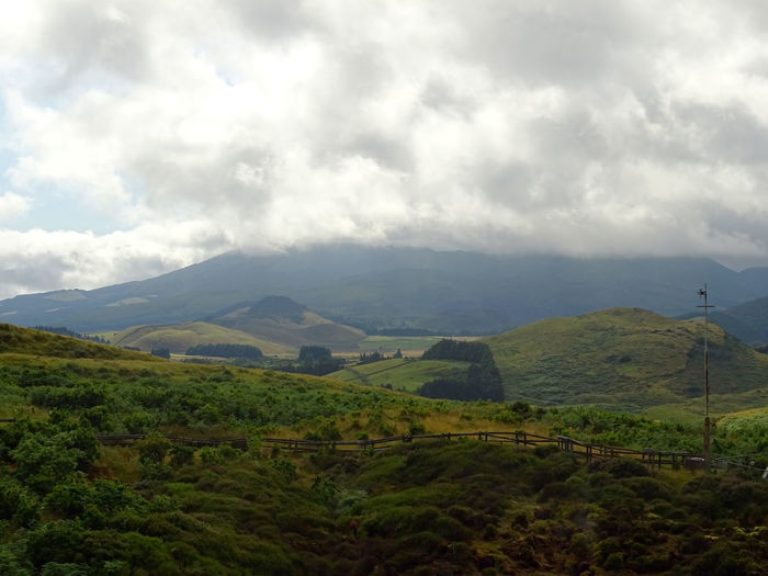 Mountain Cloud - Sky Landscape Sky Scenics - Nature Beauty In Nature Tranquility Tranquil Scene Nature Land Mountain Range Travel Azores Non-urban Scene