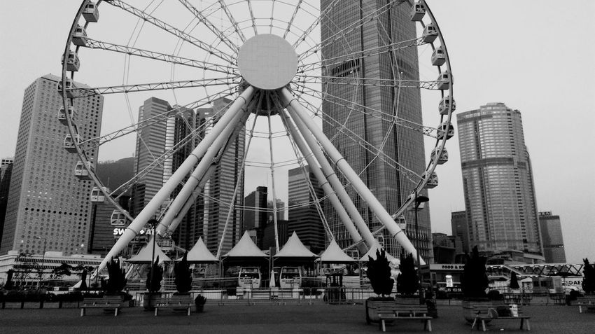 Tall - High Amusement Park Built Structure Architecture Skyscraper Building Exterior Sky Low Angle View Day Outdoors Clear Sky No People Travel Destinations Amusement Park Ride City EyeEm Ready   EyeEmNewHere