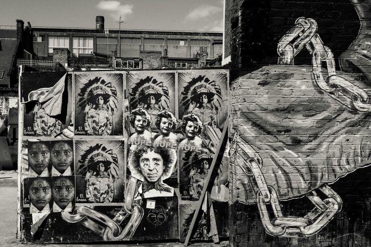 Check This Out Blackandwhite Graffiti Art Black & White Stickerart Streetphotography Urban