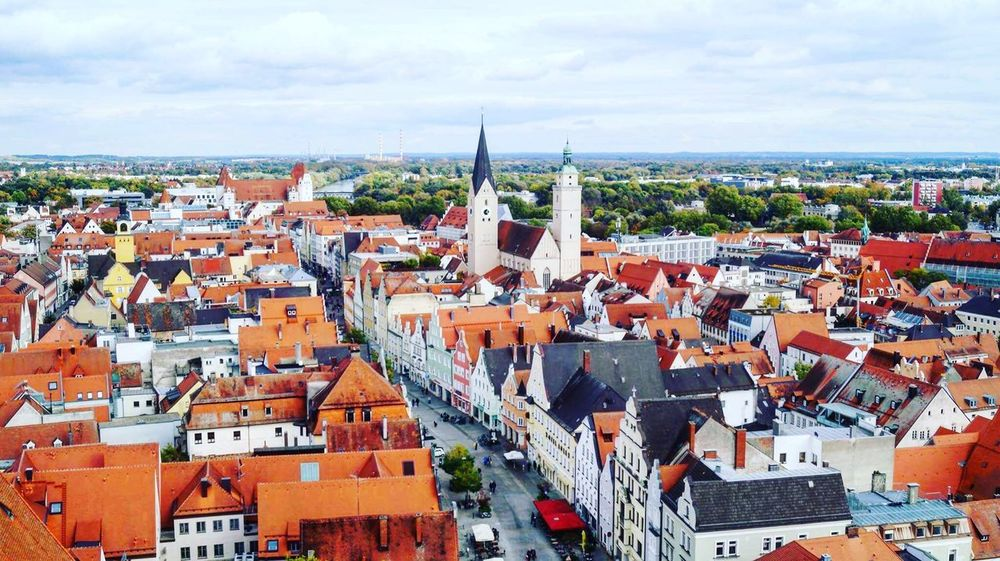 Ingolstadt view Ingolstadt Crowded Building Exterior Sky Built Structure Cityscape City Outdoors Cloud - Sky Day High Angle View Tiled Roof