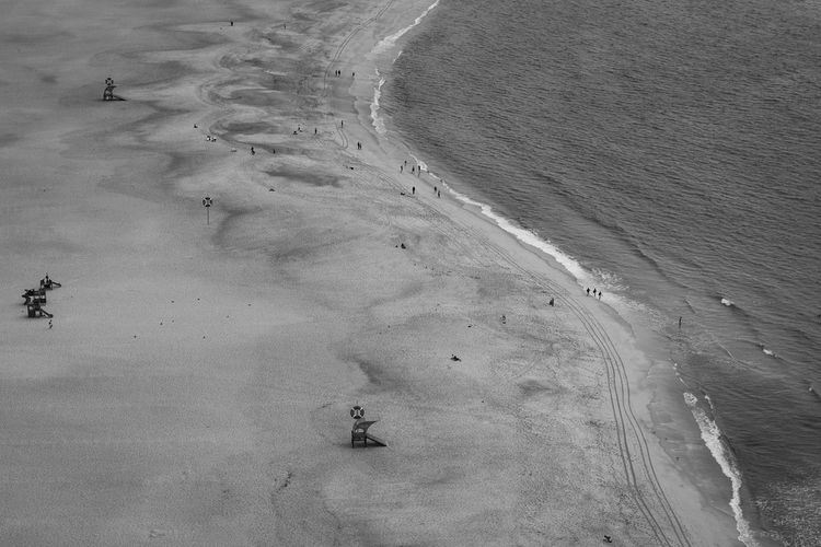 Beach Blackandwhite Photography Day Elevated View FootPrint Group Of People High Angle View Nature Nazare Portugal Non-urban Scene Outdoors Sand Scenics Snow Covered Tourism Tourist Tranquil Scene Tranquility Vacations Walking Nazaré ,Portugal The Great Outdoors - 2018 EyeEm Awards My Best Photo