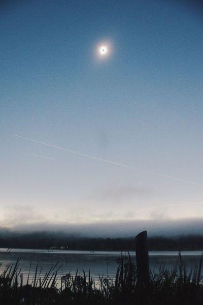 Eclipse Lake 2017 Eclipse Oregon Devils Lake Lincoln City, Oregon No People
