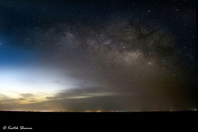 Milyway Milky Way Galaxy Sambhar Lake Horizon