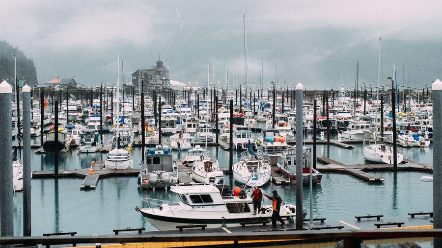 Whittier Alaska Coastal Cold Temperature Crabbing Fishing Fishing Industry Ocean Water