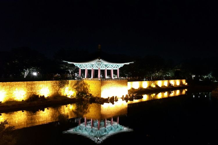 Night View Anapji Pond  Travel Check This Out