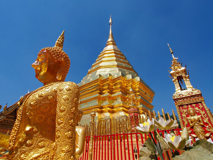 Ancient Architecture Built Structure Chiang Mai Cultures Famous Place History Ornate Place Of Worship Religion Spirituality Statue Temple Temple - Building Thailand Tourism Travel Destinations Spotted In Thailand