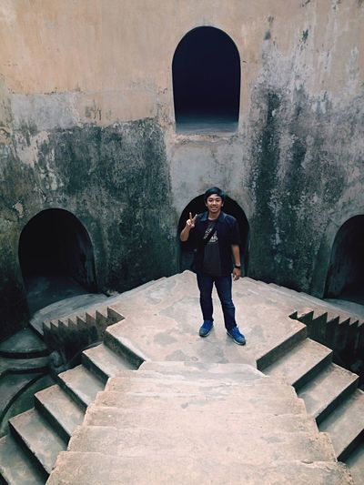 Chamber of secret Jogja Yogyakarta Full Length Real People Built Structure Casual Clothing One Person Architecture Lifestyles Colour Your Horizn