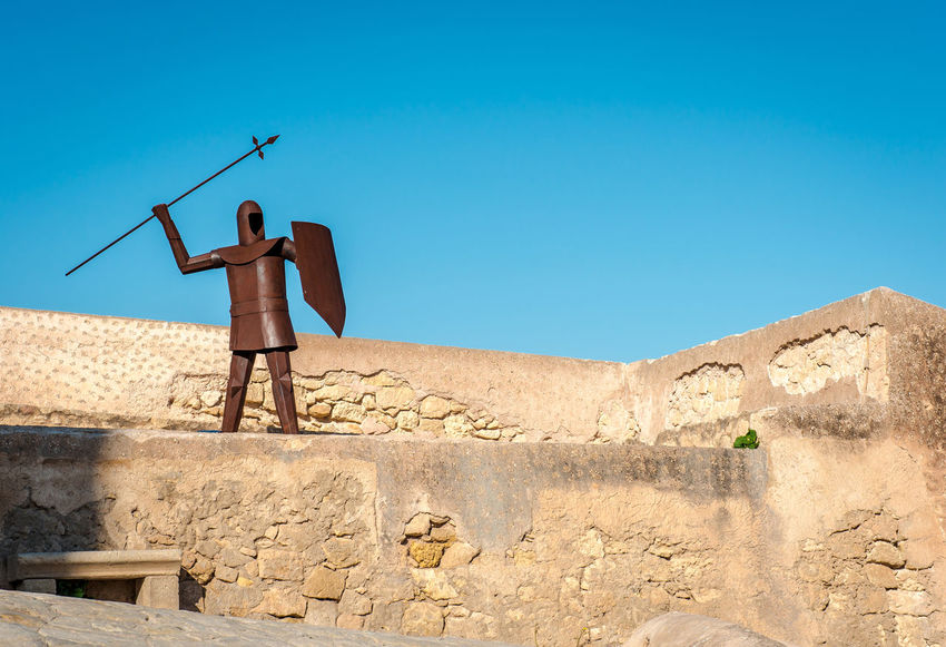 The rusty knight in the Santa Barbara castle. Alicante, Costa Blanca. Spain Alacant Alicante, Spain Ancient Ancient Architecture Archer Castle Day Defend Europe Fortification Fortress Heritage Knight  Landmark Medieval Mediterranean  Metal No People Outdoors Rusty Metal Santa Barbara Castle Sculpture SPAIN Statue Sword
