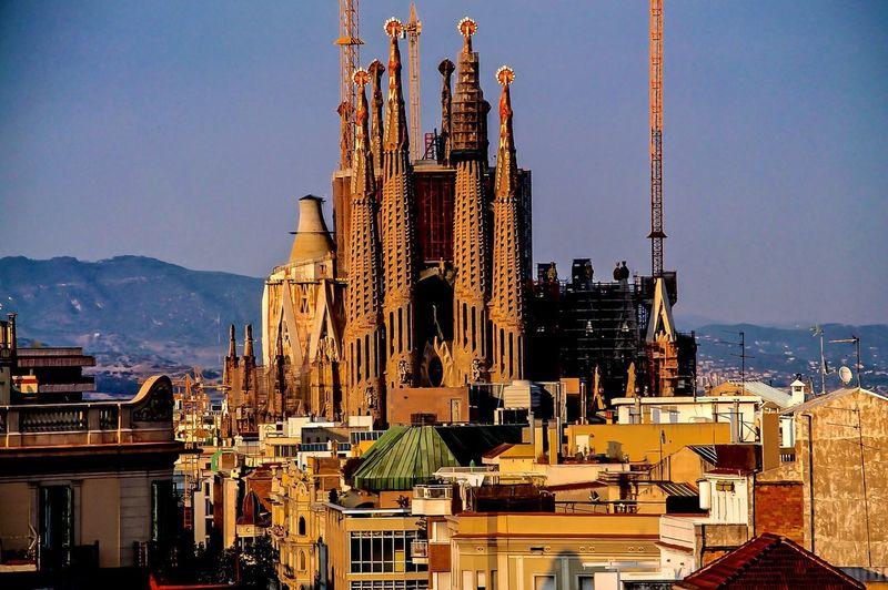 View of cityscape with sagrada familia