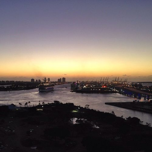Port of Miami at dawn
