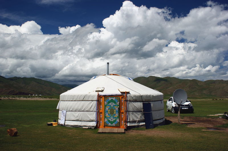 Mongolia Architecture Beauty In Nature Built Structure Cloud - Sky Day Environment Land Landscape Mountain Nature No People Nomadic Nomadic Life Outdoors Scenics - Nature Sky Steppe Tranquility Yurt Монгол улс гэр