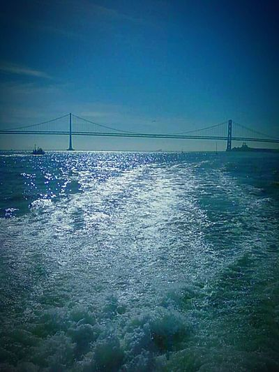 San Francisco Water Boats⛵️ San Francisco Bay Nature My Point Of View My Photography Taking Photos This Week On Eyeem Check This Out Water Splash Bridge Porn Tourist Destination Bay Bridge Original Bay Bridge Ferry Me Over
