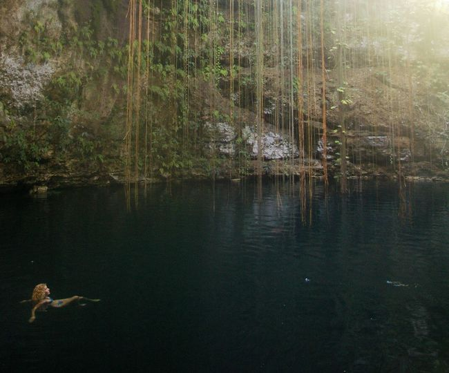 Crater Forest Girl Jungle Lake Liana Nature Swimming Water Wildlife Woman