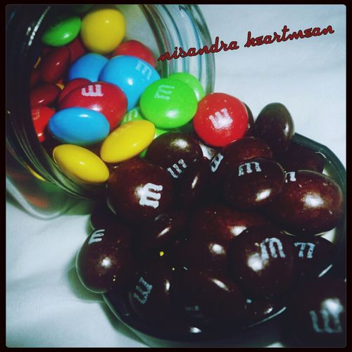 i only eat the brown ones..because chocolate is already brown... Chocolate M&m I Love Chocolate