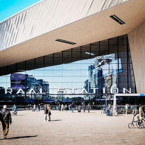 RTD #02 Architecture Built Structure Centraal Station Central Station City City Life Entrance Glass Reflection Roof Rotterdam Showcase March Street Sunlight Urban Geometry Urban Spring Fever