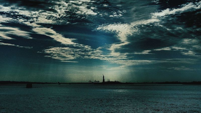 The Day After Tomorrow Darkness And Light Filtered Image Statue Of Liberty Sky And Clouds New York City Of U.S.A Travel Photography Feel The Journey