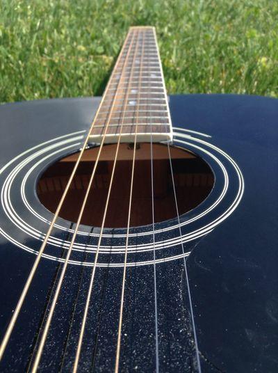 Detail shot of guitar