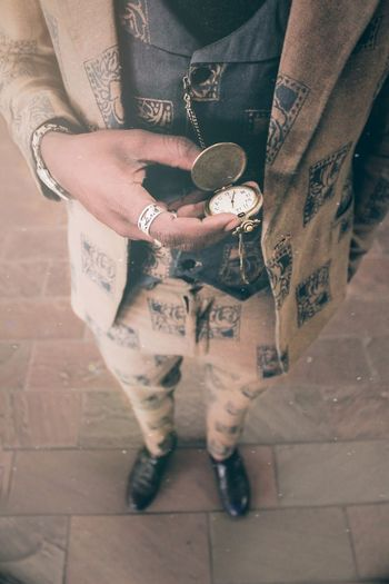 It's about that time. Photography EyeEm Best Shots Visual Creativity Fashion Human Hand Low Section Wristwatch Men Close-up Casual Clothing Necklace Midsection