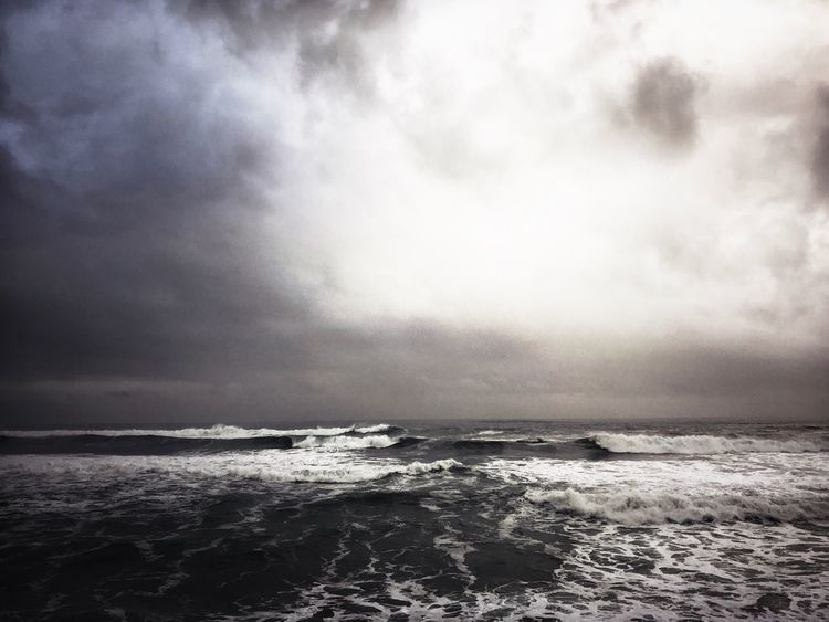 Sea Water Beauty In Nature Wave Nature Horizon Over Water Scenics Sky Cloud - Sky No People Outdoors Day