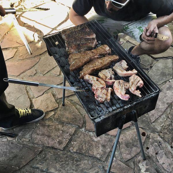 Men Bbqing MEN'S JOB BBQ Time Braai