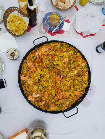 Food And Drink Directly Above Plate No People Indoors  Healthy Eating Close-up Food Freshness Day Paellas PaellaValenciana Paella Valenciana Paella Gigante Paella De Marisco Paella 🥘 Paellasgigantes