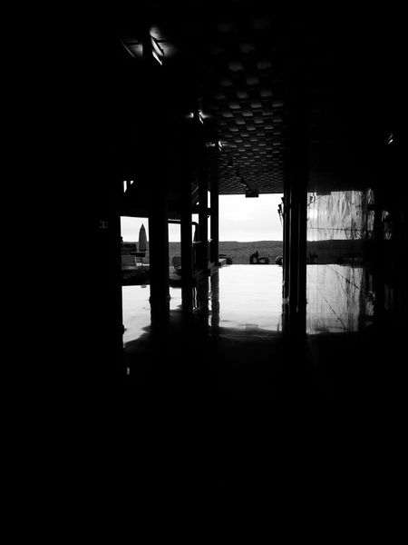The floor reflects true intentions as the morning light brushes past. Architecture Built Structure Sea No People EyeEmNewHere Hijjas Kasturi Weave Pattern