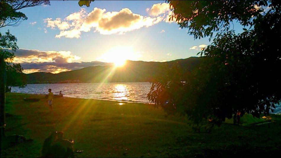 Lovely Weather Lake View Clouds And Sky Sunset_collection Happiness