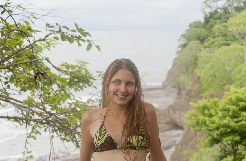 Portrait of young woman in front of Pacific Coast - Punta Leona, Costa Rica Been There. Costa Rica Happy Nature Punta Leona Tree Vacations Beach Beautiful Woman Beauty In Nature Bikini Blond Hair Front View Head And Shoulders Looking At Camera Nature One Young Woman Only Portrait Sea Smiling Tree Water Young Adult Young Women