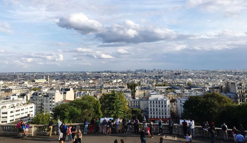 Best view in Paris Paris Building Exterior Architecture Cloud - Sky Crowd Sky Built Structure City