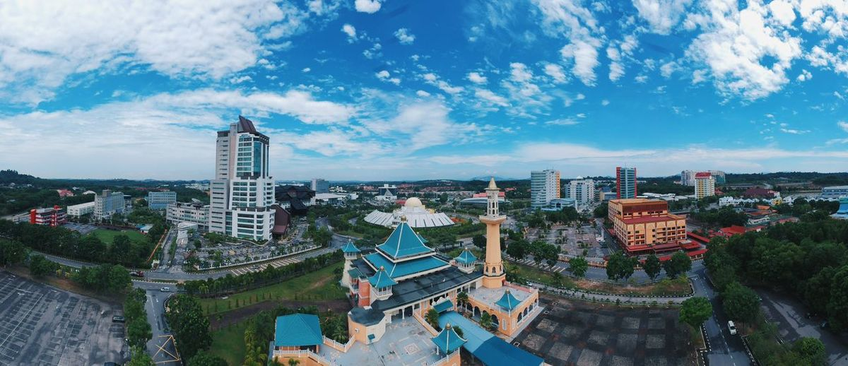 the city with blue sky ariel view Blue Sky Close-up White Background Beautiful Beauty Residential  EyeEm Selects City Architecture Travel Destinations Blue Sky And Clouds Urban Skyline Ferris Wheel Sky Outdoors Cloud - Sky Building Exterior No People Skyscraper Day Mosque Architecture Mosque Photography Malacca,malaysia Malacca Historical City, Malaysia