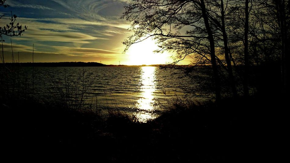 December Sky Sunset Light And Shadow From My Point Of View Nature Photography Nature Landscape Lake View