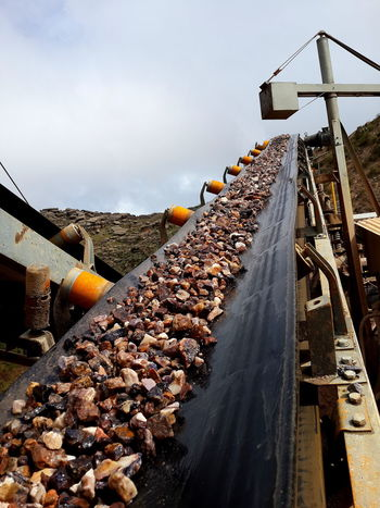 Conveyor Belt Industry Mine Mining Transportation Rocks Crushing