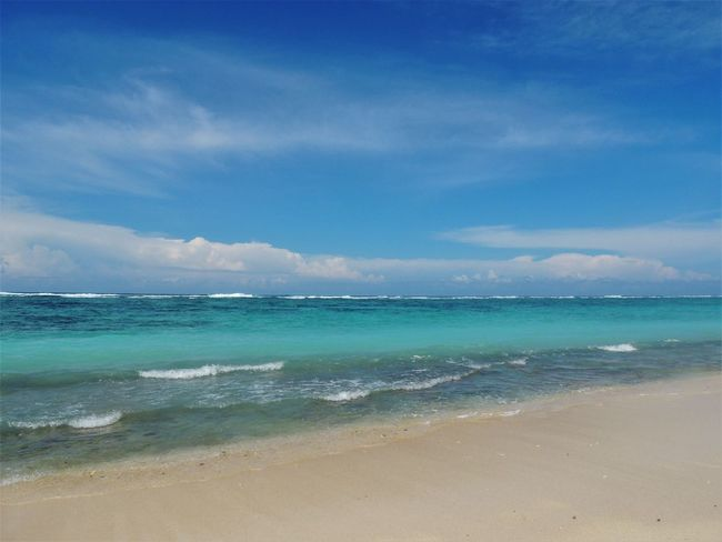 The stunning blue sea of Pandawa beach, in Bali, Indonesia. June 2016. Bali Bali, Indonesia Blue Sea Calm INDONESIA Nature Nikon Stunning Vacations Beach Beauty In Nature Blue Boat Gabiandbali Gabiandindonesia Horizon Over Water Idyllic Island Islandlife Outdoors Paradise Power In Nature Sand And Sea Scenics Travel Destinations