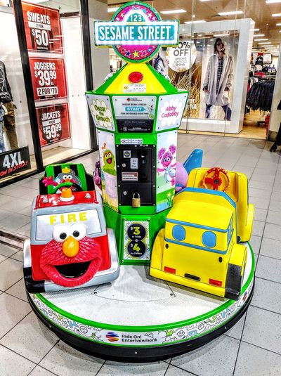 Children'sRide Children's Ride Children's Rides Children'sRides Kid's Cars Kid's Rides Kids Rides Kid'sCars KidsRides Kid'sRides Cookie Monster ❤ Cookiemonster Cookie Monster  Abby Cadabby Oscar The Grouch Oscarthegrouch Check This Out Taking Photos Animal Themes Animal Representation Shopping Mall Multiple Colors Multiple Colours Colors Colorful MultipleColours MultipleColors Sesame Street Sesamestreet Multi Colored