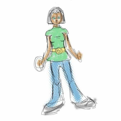 Random doodle done in sketchbook pro on a Nexus 7. Random Drawing Girl Sketch