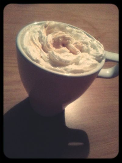 Coffee with cream for the evening.Enjoy!