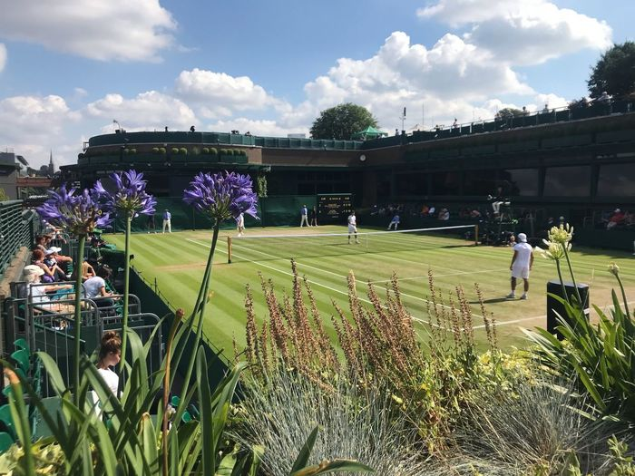 Wimbledon 2018 Sky Cloud - Sky Plant Group Of People Nature Men Land Real People Day Field People Growth Grass Adult Landscape Sunlight Green Color Lifestyles Outdoors Environment