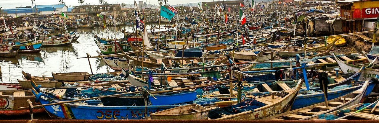 Fishing Boats resting in the Harbor of Elmina Ghana West Coast Africa Travel Photography Photos From My Travels