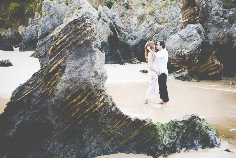 www.dariayjose.com destination wedding photographers Beauty In Nature Couple Couple - Relationship Day Full Length Leisure Activity Lifestyles Love Luxury Luxurylifestyle  Nature One Person Outdoors Real People Rock - Object Rock Formation Standing Water Waterfall Wedding Wedding Photography Women Young Adult Young Women