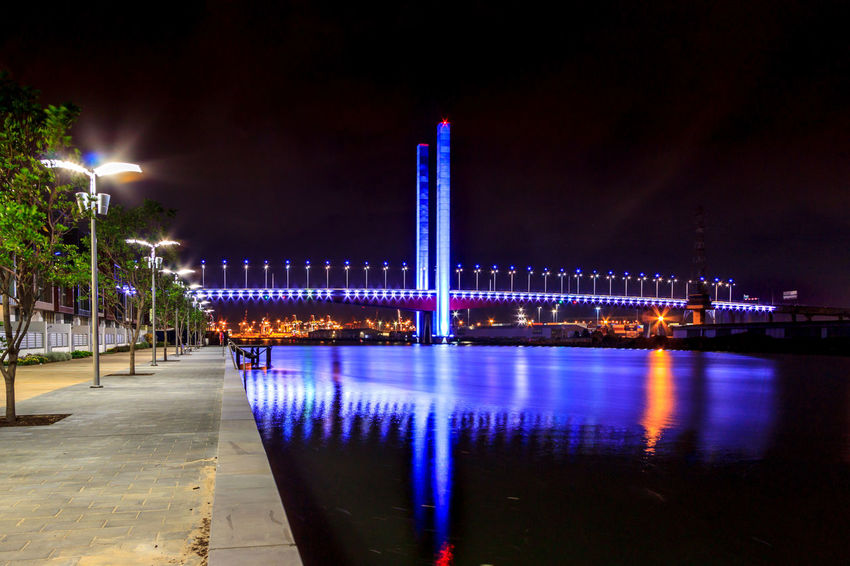 Bridge reflected in the Yarra River City Life Cityscape Night Lights Reflection Architecture Bridge Bridge - Man Made Structure Building Exterior Built Structure Illuminated Nature Night No People Outdoors Sky Tourist Destination Travel Destinations Water Waterfront