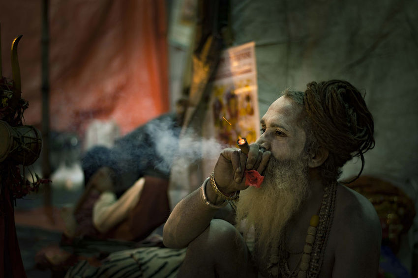 Baba In India Spritual Journey Close-up Leisure Activity Lifestyles Potrait_photography Potraiture Religion Shadhu Smoke - Physical Structure Smoking - Activity Spirituality Spritualism Sprituality