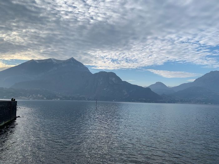 Bellagio Como Lake Como Mountain Water Scenics - Nature Beauty In Nature Sky Cloud - Sky Tranquil Scene Nature Idyllic Waterfront Reflection No People Non-urban Scene Outdoors Day Environment Tranquility Mountain Range
