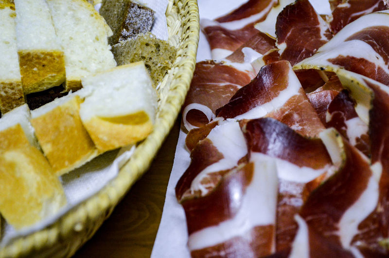 Found in my archive ~ Italy 2015 Ham Prosciutto Bread Food Food And Drink Foodphotography Ready-to-eat Freshness Close-up Detail Still Life Serving Size Italy Italian Food Indoors  Miles Away Lifestyles